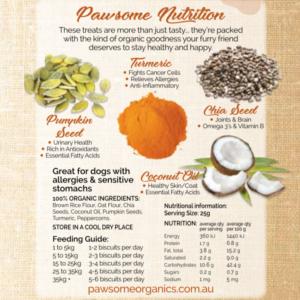 Organic Pumpkin and Turmeric Dog Treats 250g - Pawsome Organics